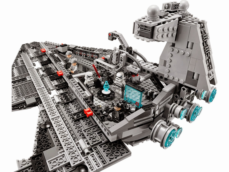 Detalle del interior Lego Star Wars de la nave destructor imperial