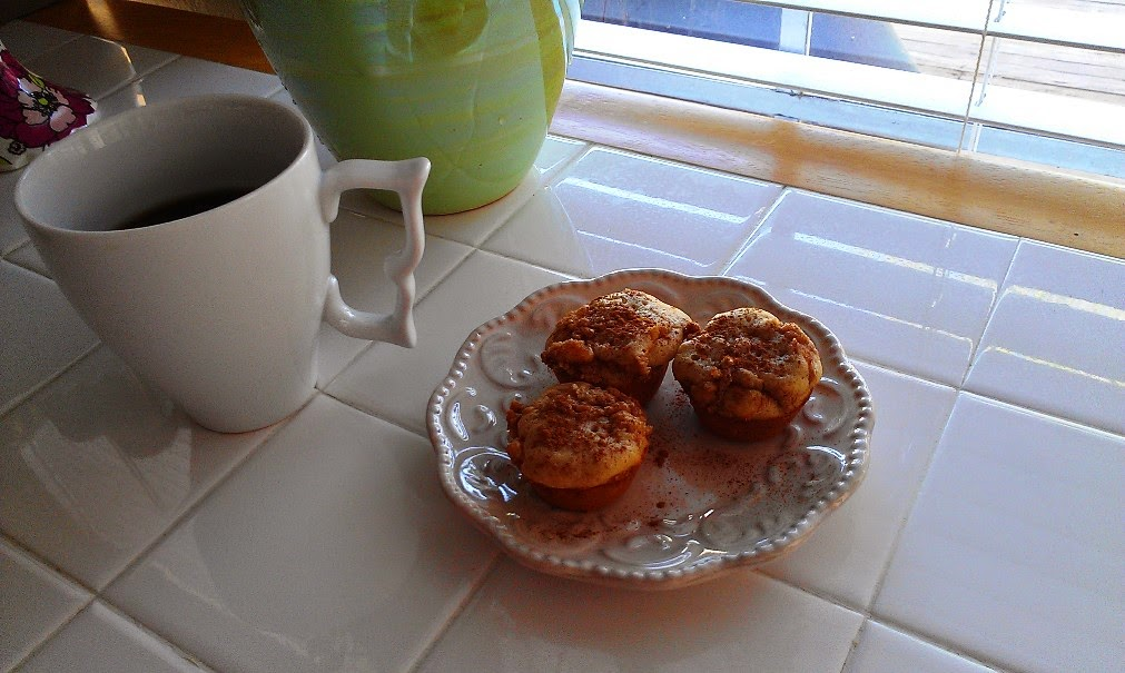gluten free coffee cake bites with cream cheese streusel topping