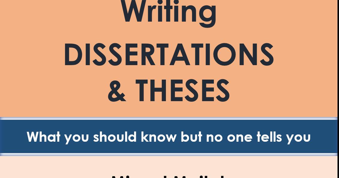 Writing dissertations