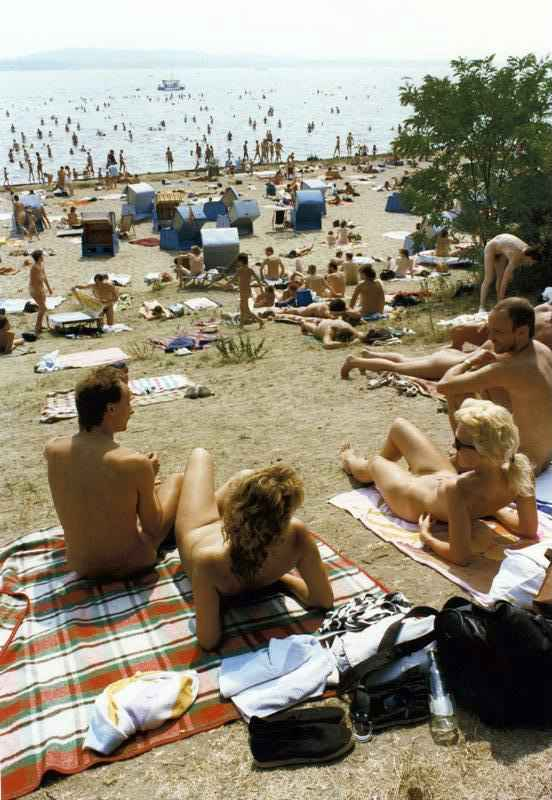 Nude beach at Müggelsee (Berlin, Germany)