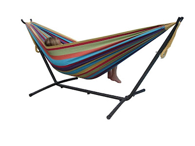 review Vivere UHSDO9 Double Hammock with Space-Saving Steel Stand