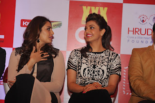 Actress Kajal Aggarwal and Huma Qureshi Latest Pictures at Launch of 100 Hearts A Social Initiative By CCL  37