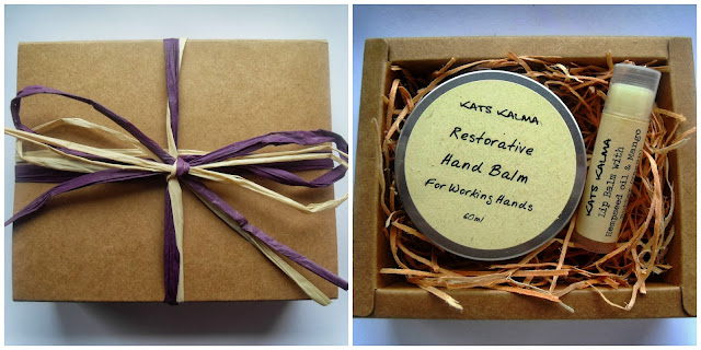 Kats Kalma set restorative hand balm and lip balm