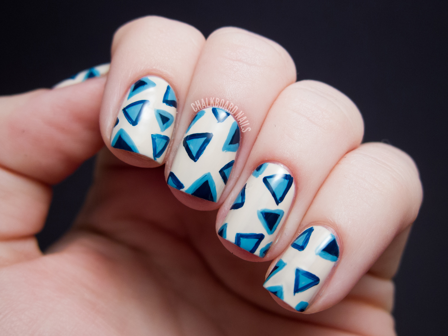 Inverted Triangles - OPI Euro Centrale Nail Art | Chalkboard Nails ...
