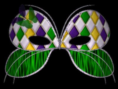 Máscara Carnaval PNG - Borboleta