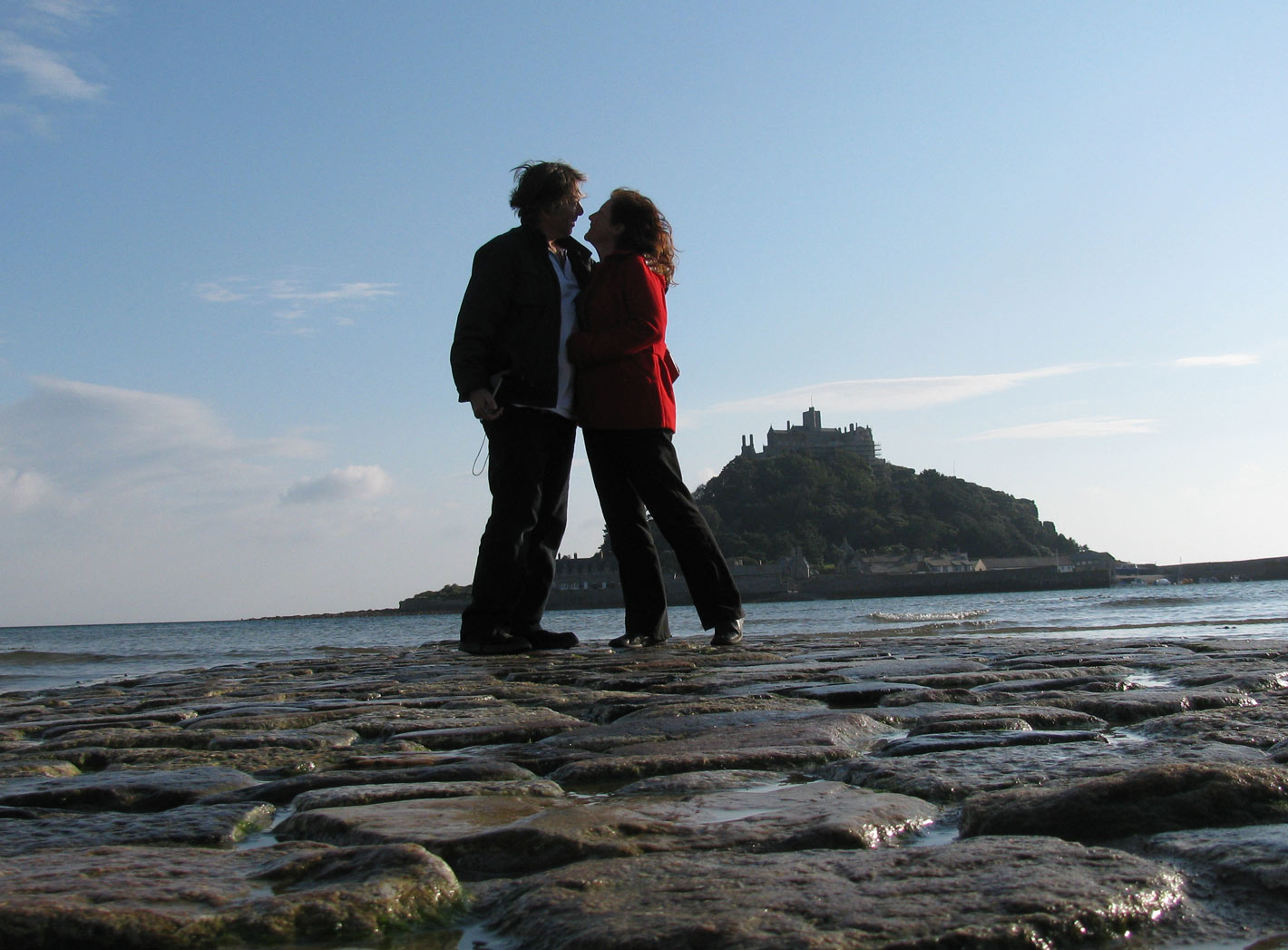 Harry and Maribel at St Michael's Mount