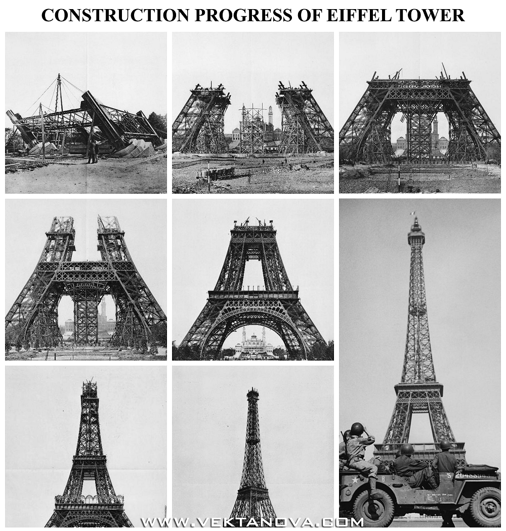 If you haven't seen yet, now you see construction progress of Eiffel Tower
