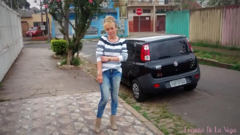 Outfit | Blusa de Tricô Listras Degradê e Jeans | OOTD