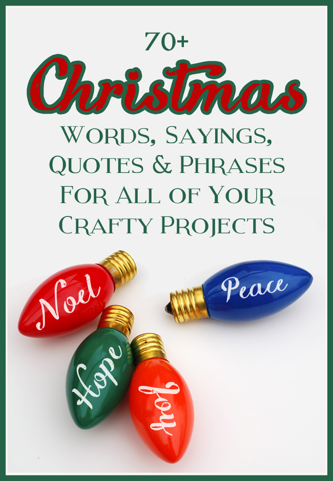 The Craft Patch: Mega List of Christmas Words, Sayings, Quotes and ...