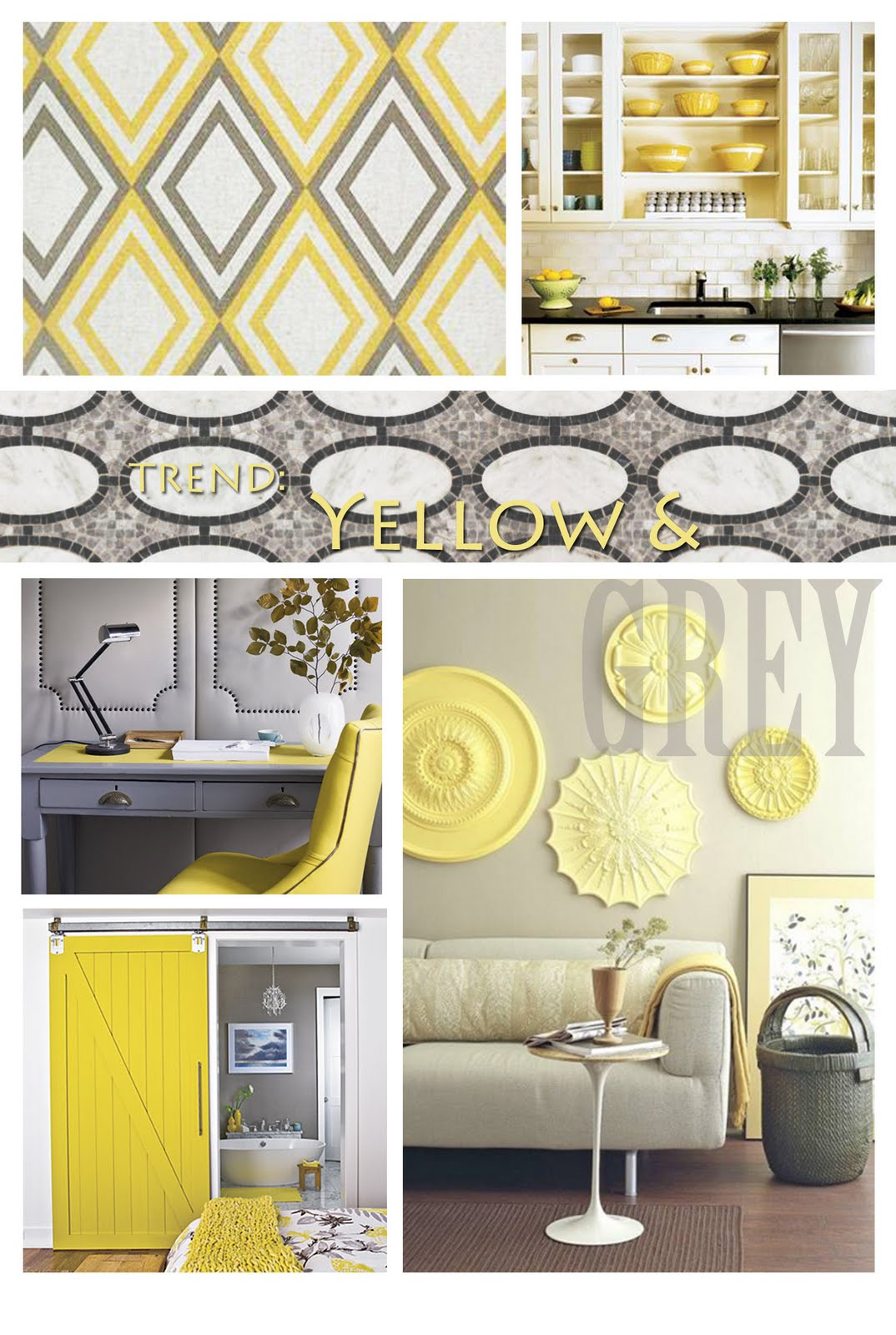 Sincerely your designs decorating with yellow and grey for Grey yellow kitchen ideas