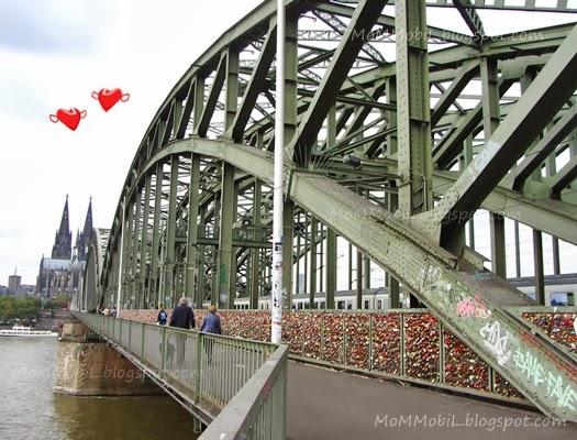 Love bridge in Cologne, Germany