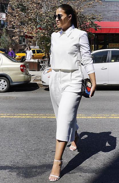 Lia pellerano nyfw15 total white outfit
