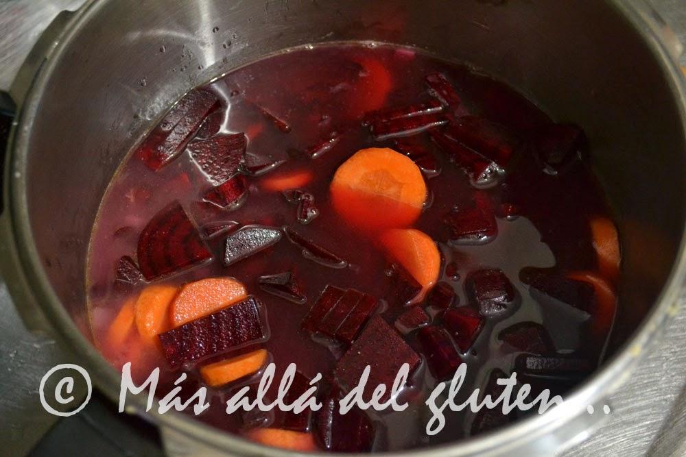 M s all del gluten crema de remolacha receta scd for Cocinar remolacha