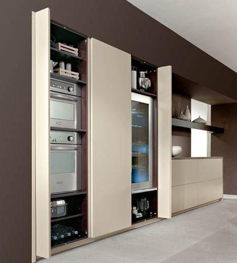 C mo ocultar los electrodom sticos cocinas con estilo - Armario de la tv ...