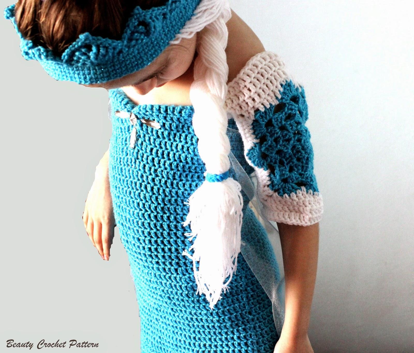 Crochet Elsa Tiara Pattern Free : How To Crochet A Frozen Crown Party Invitations Ideas