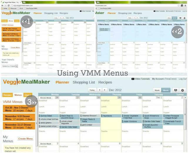 customizeable pre-planned menus