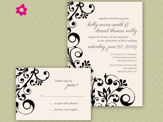 exemplos de Convites de Casamento em fotos