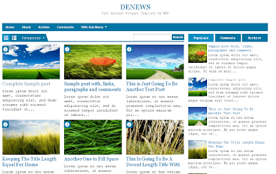 DE News Blogger Templates