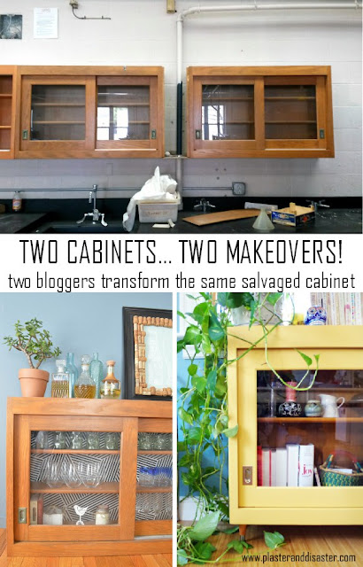 salvaged cabinets two ways to update
