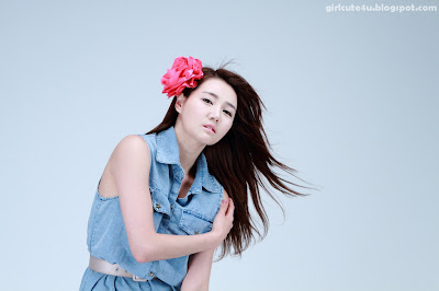 16 Han-Ga-Eun-Denim-Shirt-01-very cute asian girl-girlcute4u.blogspot.com