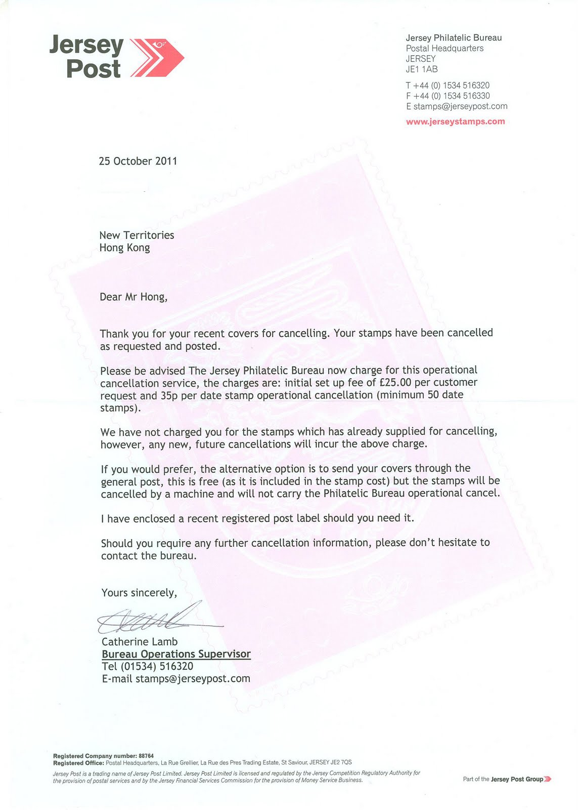 termination of service letter