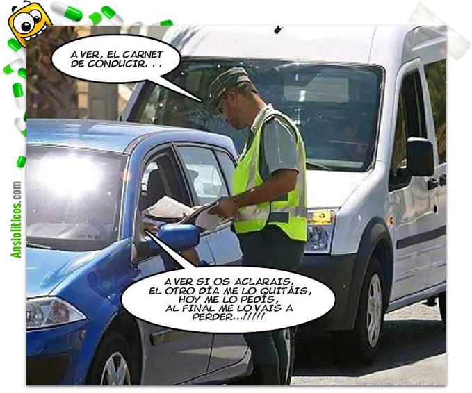 Chiste de Policías: Carnet de Conducir