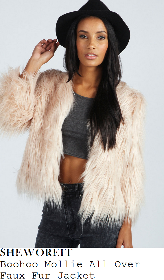 chloe-sims-cream-pale-pink-shaggy-faux-fur-jacket