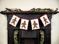 Gingerbread man Christmas garland