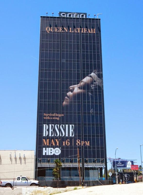 Giant Queen Latifah Bessie film billboard