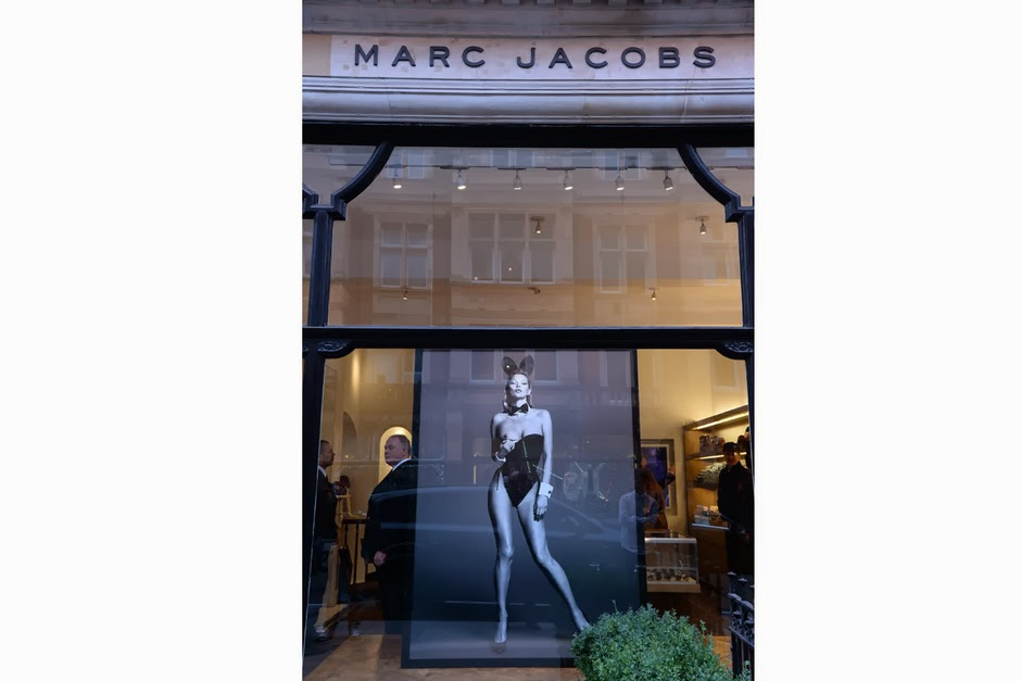 Kate Moss poster in Marc Jacobs
