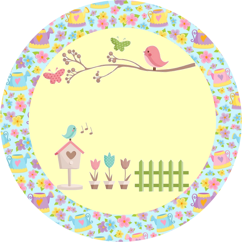 Festas Infantis Kit de festa Personalizado com tema Jardim Encantado