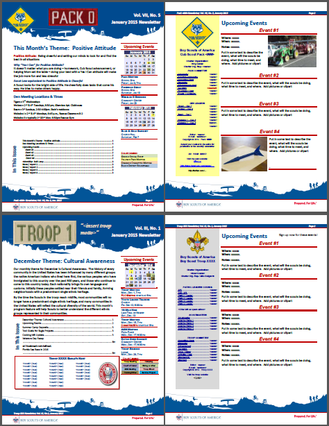 newsletter templates scouter jeff