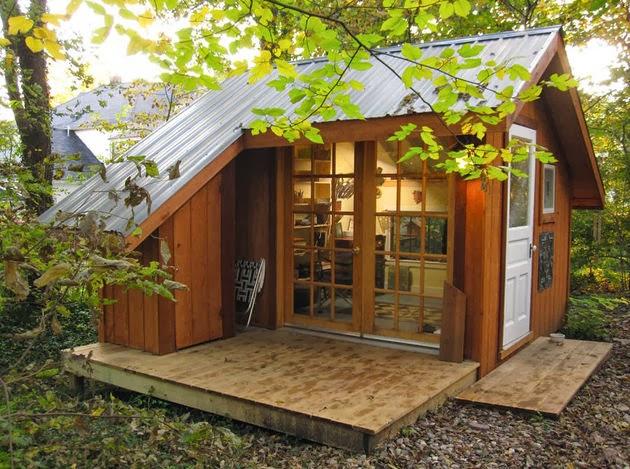 Ide Desain Rumah Kayu Kecil