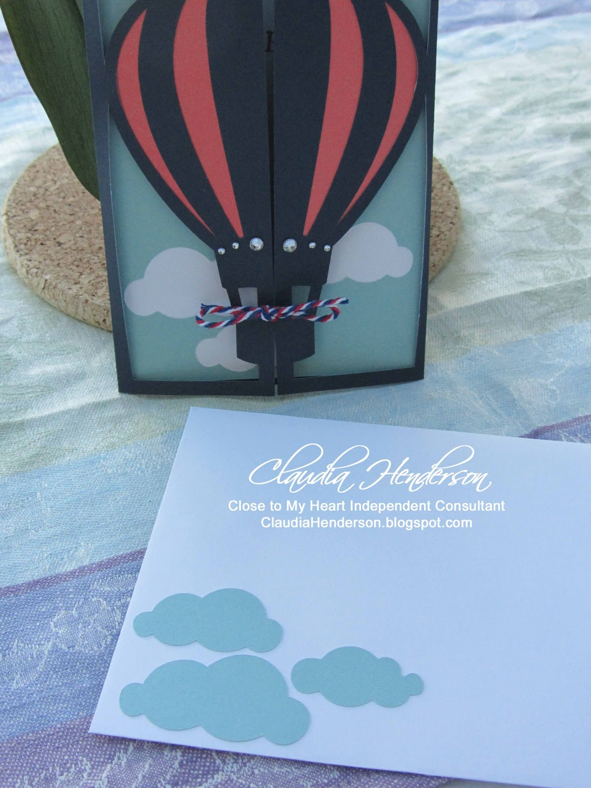 Crafting with a view hot air balloon happy birthday the balloon base card was cut with the cricut and used the close to my heart cartridge artfully sent z3168 the balloon part is usually open bookmarktalkfo Image collections