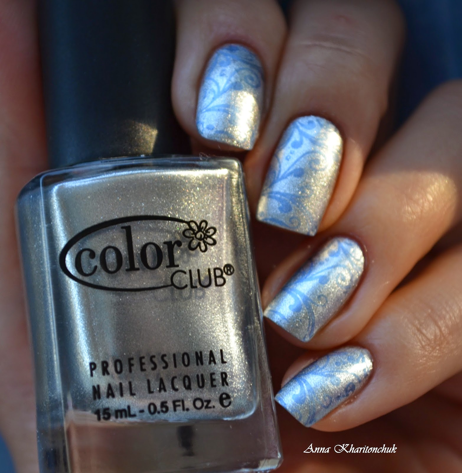Color Club What a Drag 811 + стемпинг