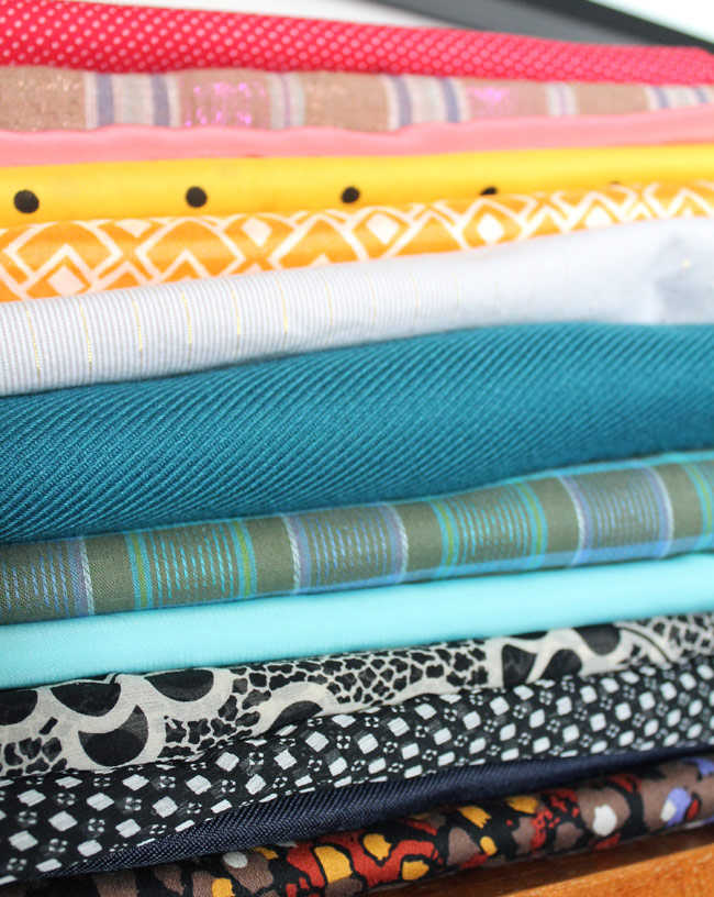 Spring Wardrobe Planning fabrics