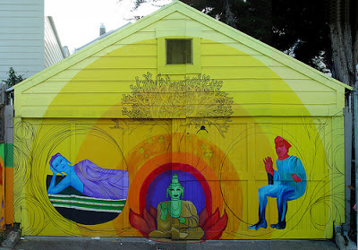Buddhist Street Art San Franciso, tagging, graffiti