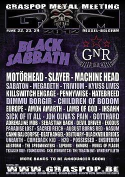 Guns N' Roses, Machine Head o Gotthard al Graspop Metal Festival