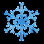 冬のアイコン「雪の結晶」