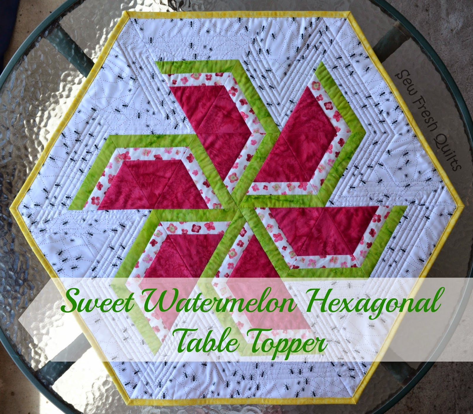 Sew Fresh Quilts Summer Time Sweet Watermelon Table Decor