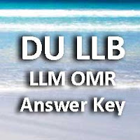 Delhi University LLB LLM Answer Key 2015