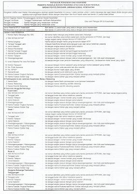 Petunjuk Pengisian dan Verifikasi BPJS Kesehatan