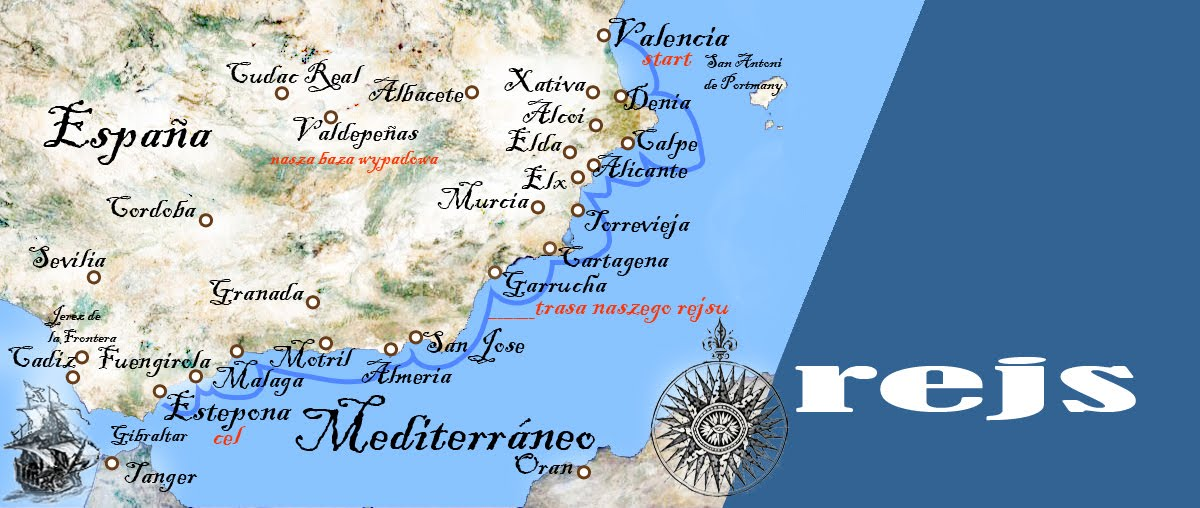 Podróże - rejs po Morzu Śródziemnym - wybrzeże Hiszpanii