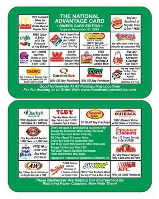 Discount Restaurant Card