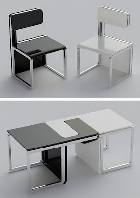 chairs turn into a table