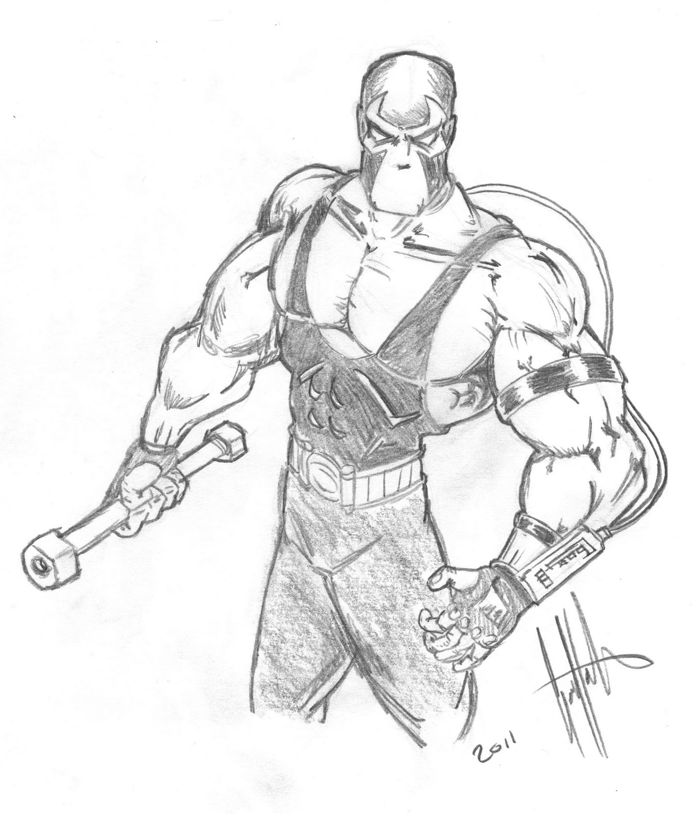 bane from batman coloring pages - photo#14