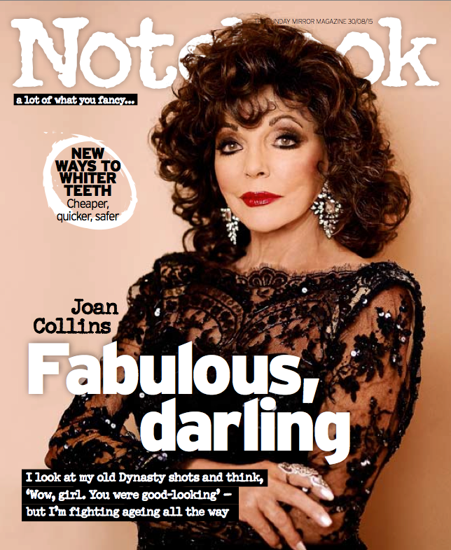 Joan collins official news the sunday mirror notebook for Sunday mirror