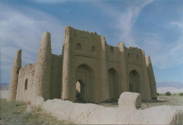 gumbez or mausoleum made of adobe or mud