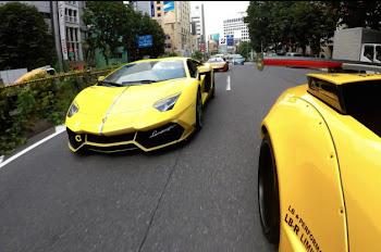 Tokyo'da Süper Motorların ve Arabaların Go Pro Hero 4K Performansı