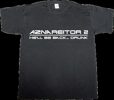 terminator Arnold Schwarzenegger fun partido popular pp aznar t-shirt ephemeral-t-shirts
